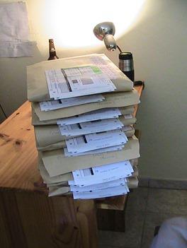 Manuscrits prêts à l'envoi